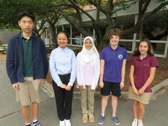 The Wardlaw+Hartridge School in Edison recently elected its freshman class officers. Pictured, from left: president Yijie (Wilson) Zhang of Linden, vice president Laura Chen of Fords, secretary/treasurer Faizah Naqvi of South Plainfield, judiciary board rep Abigail Newell of Livingston and judiciary board alternate Anna Claire Sems of Bernardsville.