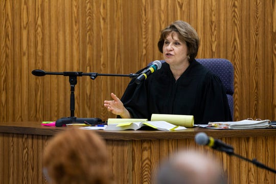 Chief Eighth Judicial District Judge Mary Ann Brown speaks during a trial on Friday, Sept. 28, 2018, in the Washington County Courthouse.