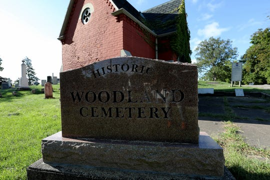 Historic Woodlawn Cemetery is the home of the unmarked grave of American Landscape Painter Robert S. Duncanson, in Monroe, Mich. photographed on Tuesday, Sept. 11, 2018.
