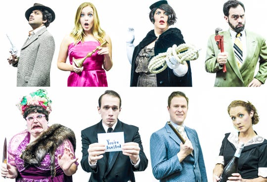 "Who did it? The cast of ""Clue"" will reveal starting Friday at the Ringwald Theatre."