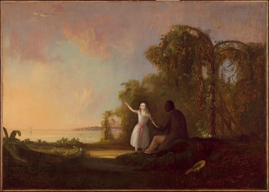 """Uncle Tom and Little Eva"" by Robert S. Duncanson"