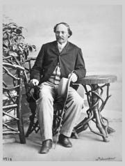 Artist Robert S. Duncanson was photographed by William Notman in Montreal, QC, in 1864.