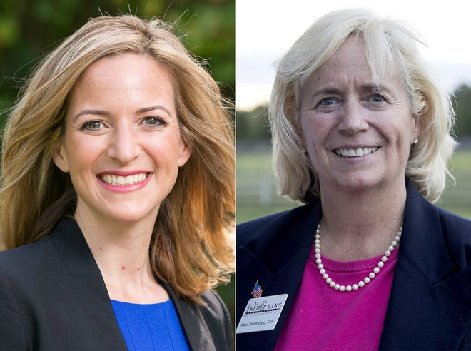 Secretary of State candidates Democrat Jocelyn Benson and Republican Mary Treder Lang