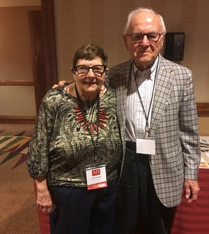 Jan and Dan Longone of Ann Arbor. Jan was awarded the Carol DeMasters Award for Service Journalism by the Association of Food Journalists annual conference held in Phoenix on Thursday, September 27, 2018.
