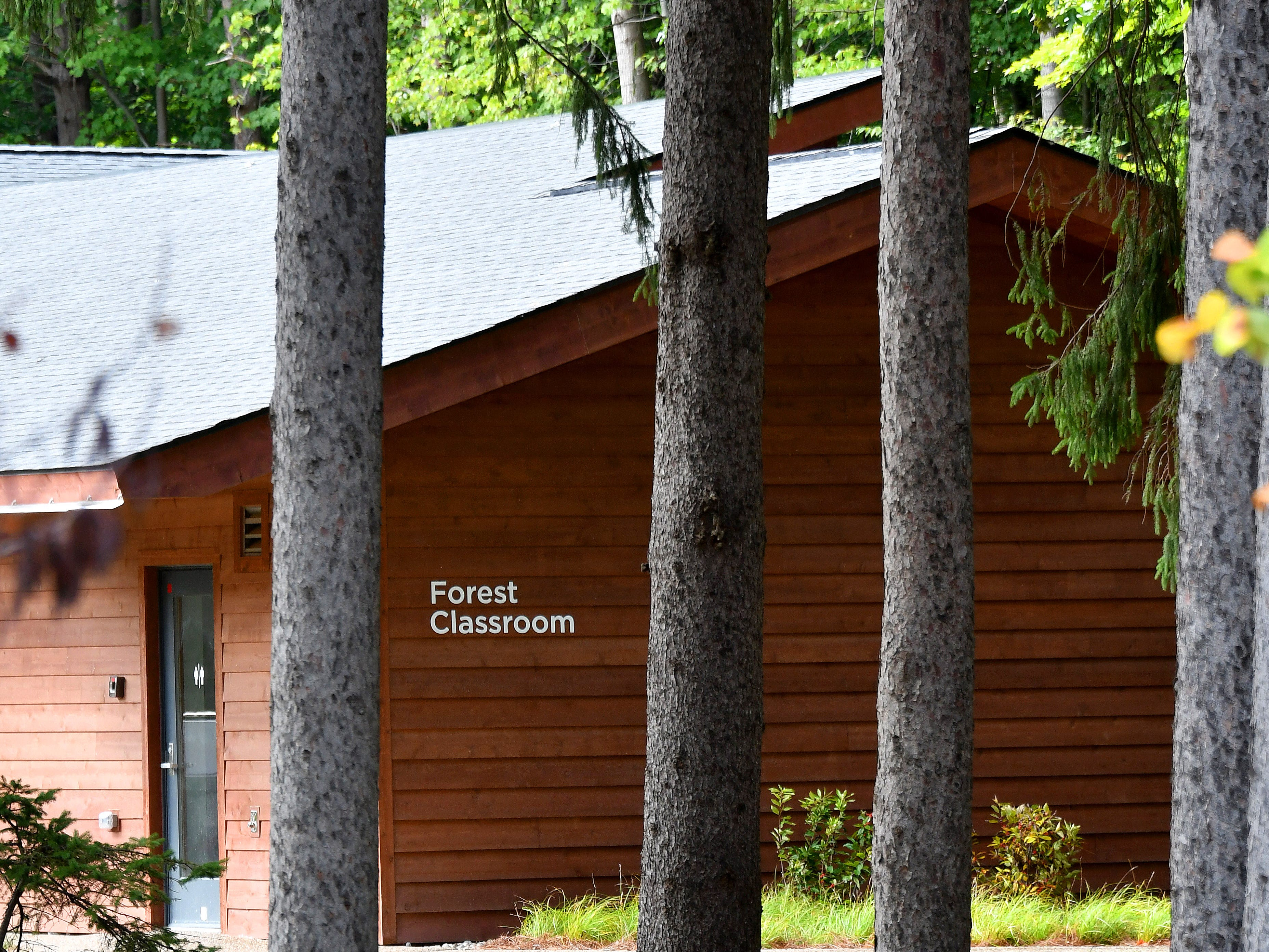 The Whiting Forest experience includes a classroom building, snack bar and meeting areas.