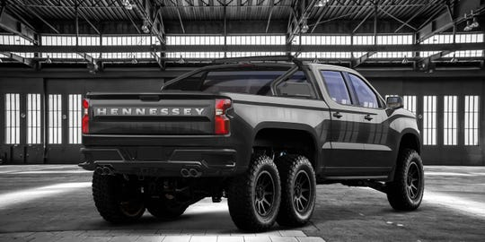 The Hennessey Goliath also comes in black.