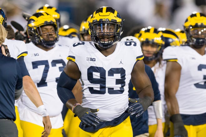 Michigan defensive lineman Lawrence Marshall