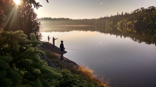 Pickerel Cove on Isle Royale is a choice spot for sunrise fishing at sunrise.