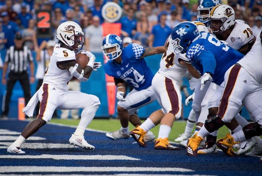 After scoring 13 total touchdowns last season, Central Michigan running back Jonathan Ward has yet to score a touchdown this season.