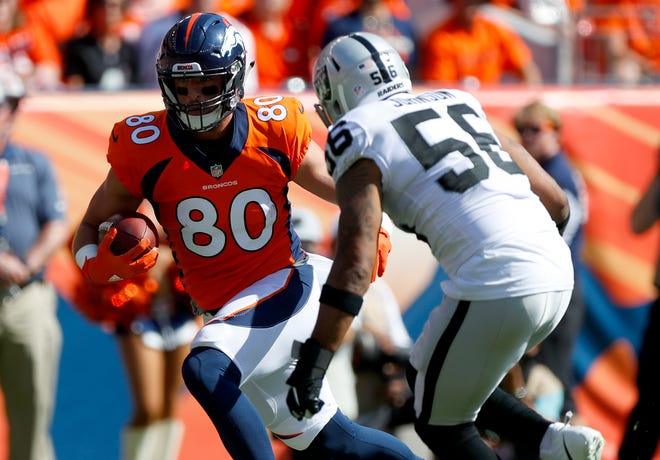 Denver Broncos tight end Jake Butt is out for the season with another ACL injury.