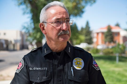 Albany County Sheriff Dave O' Malley poses for a photo in Laramie on Thursday, September 13, 2018. O' Malley was a detective in the case for Matthew Shepard, a gay student at the University of Wyoming that was attacked and beaten by Aaron McKinney and Russell Henderson.