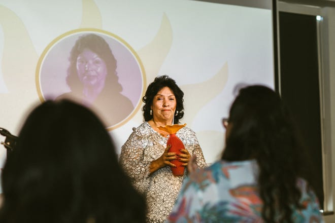 Betty Aragon-Mitotes of Fort Collins received the Latino Community Foundation of Colorado's SOL award in a Sept. 15 ceremony in Denver.