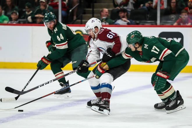 The Colorado Avalanche are at the N.Y. Rangers at 5 p.m. Tuesday.