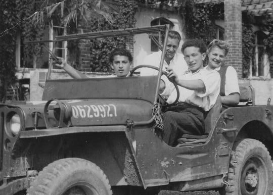 After the Holocaust, Jack Adler (far left) moved to the U.S. and lived in Chicago.