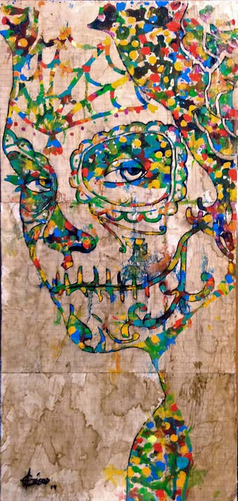 Dia De Los Muertos A Juried Exhibit The Misinterpretation Of Death And Its Disastrous Consequences By Cesar Aguilar