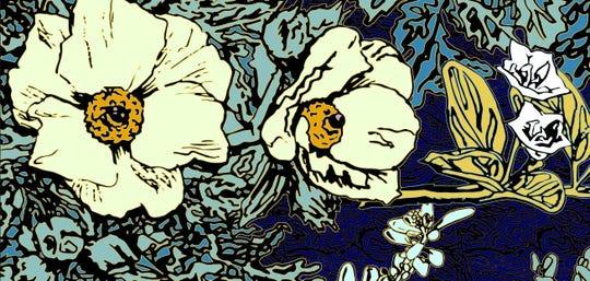 "David Shepard's  ""Puakala Landscape Gold Blue,"" part of a new exhibit at FGCU"