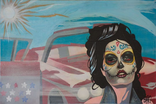 "Richard Bravo's ""Classic Americana"" is part of the Alliance for the Arts' new ""Dia de los Muertos (Day of the Dead"" exhibit."