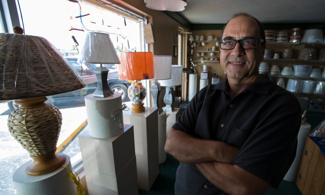 Jay Thisted's business, which was established in 1978 by his mother in Glendale, Wisconsin, is one-of-a-kind in the Cape. If there's a lamp that needs love and attention, it's usually coming to him.