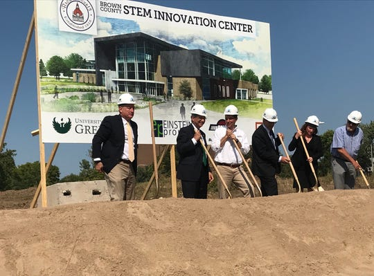 Ground was broken on a new STEM innovation center on the University of Wisconsin - Green Bay campus Sept. 17, 2018.