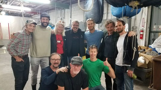 "Actor Hans Obma, whose parents live in Allouez, is on the far left in the back row for a portrait with some of the cast and crew of AMC's ""Better Call Saul."" That's co-creator Vince Gilligan in the center of the back row and Jonathan Banks, who plays Mike, in the middle of the front row."