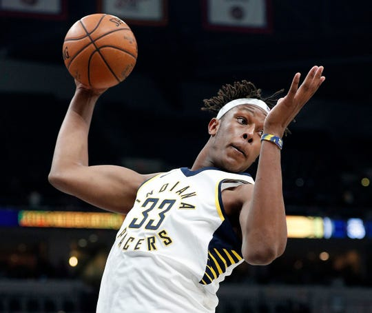 Myles Turner is on the final year of his rookie contract, and Pacers want to see improvement on the boards from him.