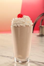 Highway 55 chocolate milkshake made with the restaurant's famous custard-style ice cream