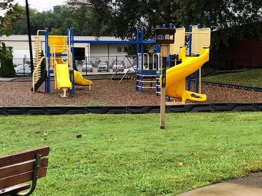 The current playground at South Knox Elementary School.