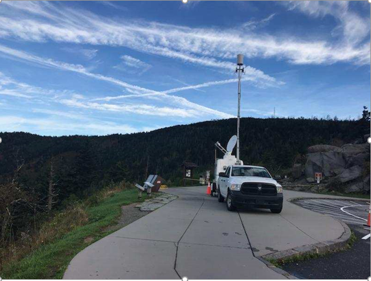"""Verizon has sent a portable cell tower to assist with the search for a missing hiker in Great Smoky Mountains National Park. Mitzie Sue """"Susan"""" Clements, 53, of Cleves, Ohio, was last seen about 5 p.m. Tuesday on the Forney Ridge Trail, approximately a quarter-mile from Andrews Bald, after she and her daughter separated."""
