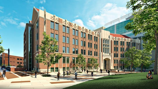 Rendering of the new engineering building at the University of Tennessee at Knoxville.