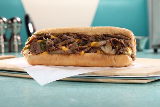 Highway 55 cheesesteak sandwich