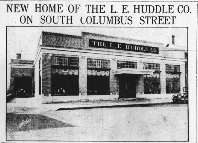 This photo of the new home of L. E. Huddle Co. at 235 S. Columbus St. appeared in the Daily Eagle on Nov. 10, 1927.