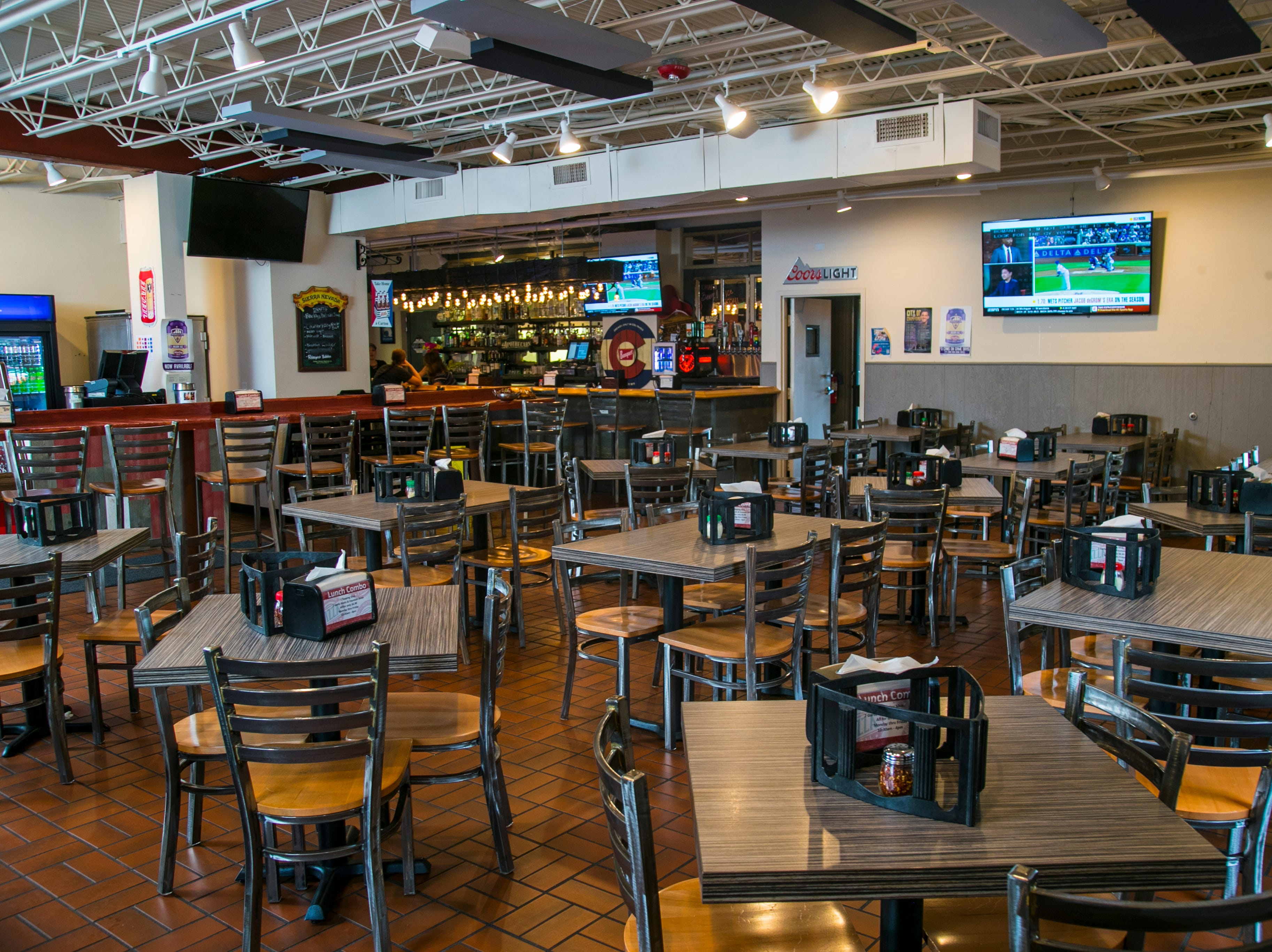 Butchertown Pizza Hall has a large dining area as well as coin-operated video games and tabletop shuffleboard. There's a bar, too.  Sept. 27, 2018