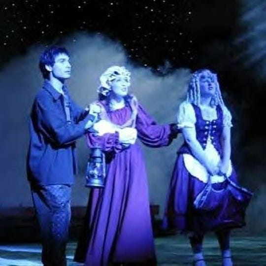 "Michael Callahan, left, began his road to Broadway at Louisville's Youth Performing Arts School and is seen here in a YPAS production of ""Into the Woods."""