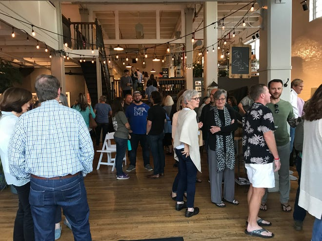 People came to South Main Market Friday during Trolley night, just a day after the fatal shooting of former CEO and President of the Greater Memphis Chamber Phil Trenary.