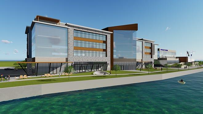 Blackhawk Community Credit Union plans to build a new, $30 million headquarters complex along the Rock River in downtown Janesville.