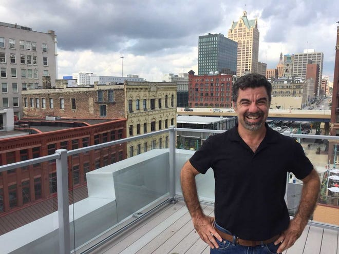 Developer Robert Joseph's conversion of the former Jennaro Bros. Inc. produce warehouse to office and retail space included a new rooftop penthouse.