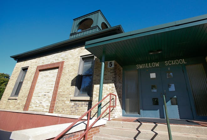 The Swallow School District is proposing removal of an 1894 schoolhouse and a 1953 two-level addition to be replaced with a single-level addition within that footprint as part of the district's $8.3 million referendum that will appear on the Nov. 6 ballot.