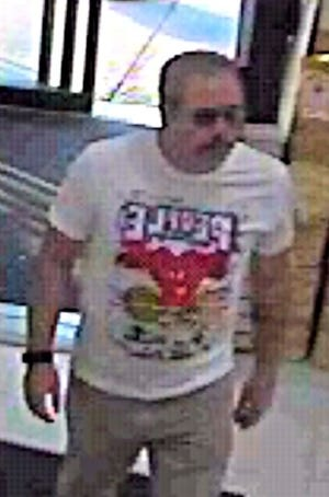 Surveillance image of suspect accused of groping a woman while she shopped at an East Hanover arts and craft store.