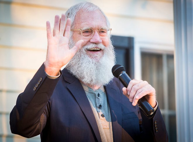 Former Late Night talk show host David Letterman spoke at a fundraiser for congressional hopeful and Muncie local Jeannine Lake at Lake's home Thursday evening. This gallery will be updated.