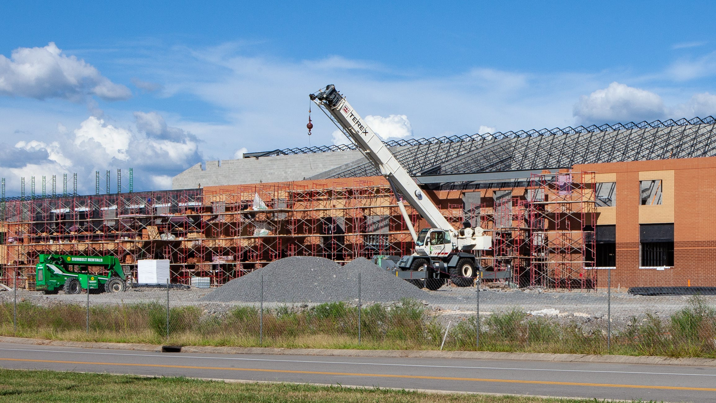 Rockvale High School is under construction on Highway 99. The school, located behind Rockvale Middle, will open in August 2019.