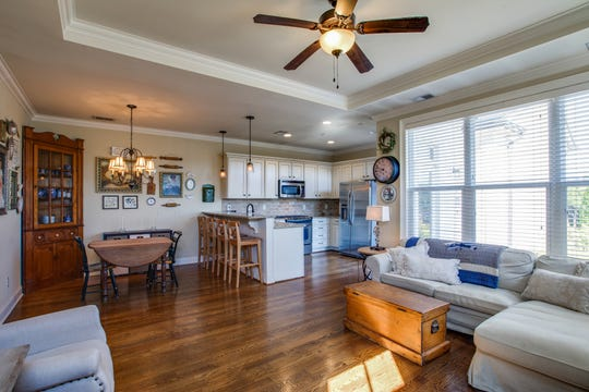 This Westhaven townhome has an open floor plan and finishes such as hardwood floors, just like many single-family homes.