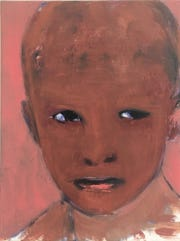"Regan Wheat, ""Untitled,"" 2017, oil on board, 18 x 24cm."
