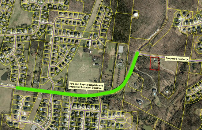 Brentwood is planning to purchase property for a new fire station to be built on Split Log Road in the southeast portion of the city.