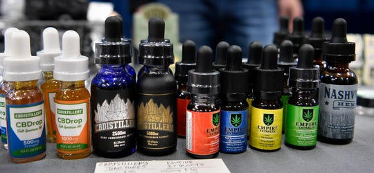 Products containing CBD were available during the Southern Hemp Expo on Friday, Sept. 28, 2018, at The Fairgrounds Nashville.