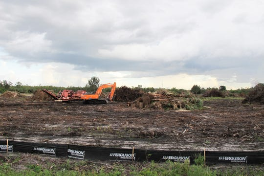 The Collier County school district is clearing property it owns on the corner of Immokalee Road and Moulder Drive to keep its permit active for the eventual construction of an elementary school.