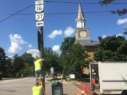 Traffic Crossing Light Installation