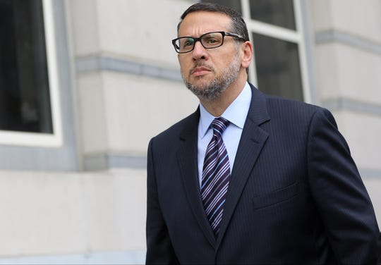 David Wildstein walks out of the Martin Luther King Jr. Building and U.S. Courthouse in Newark after being sentenced to three years probation, community service and fines for his involvment in the 'Bridgegate' scandal.  Wednesday, July 12, 2017
