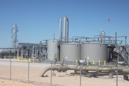 A natural gas processing plant, Sept. 28, 2018 in southern Eddy County.
