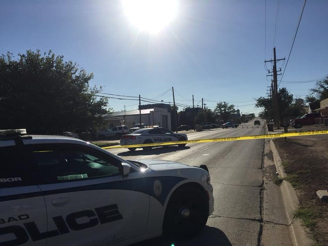 Carlsbad Police blocked off a section of West Texas Street Friday afternoon for a crime scene.