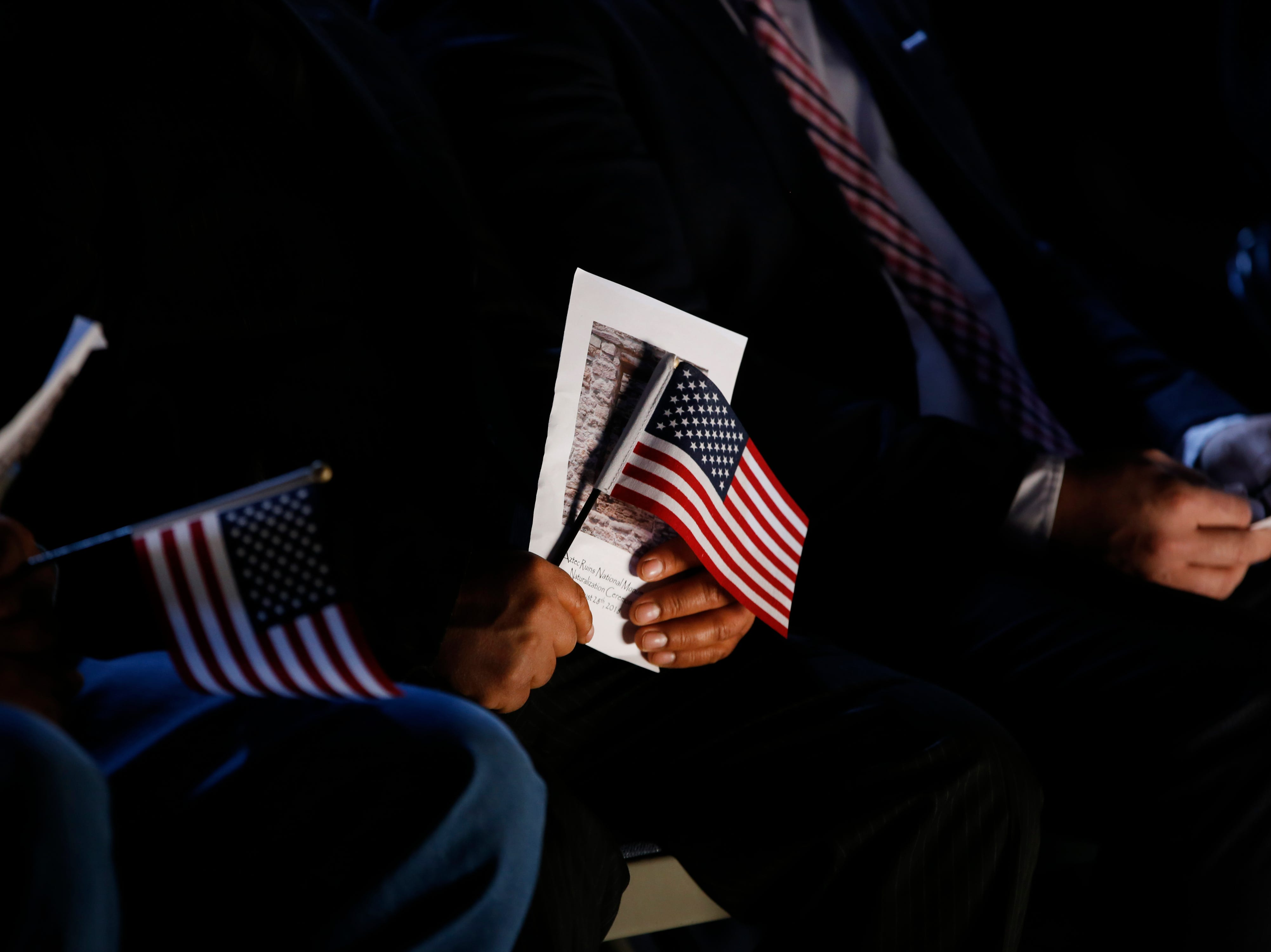 Eight individuals from three foreign countries, Mexico, Canada and the Philippines took part in a naturalization ceremony on Friday, Sept. 28, 2018 at the Aztec Ruins National Monument.